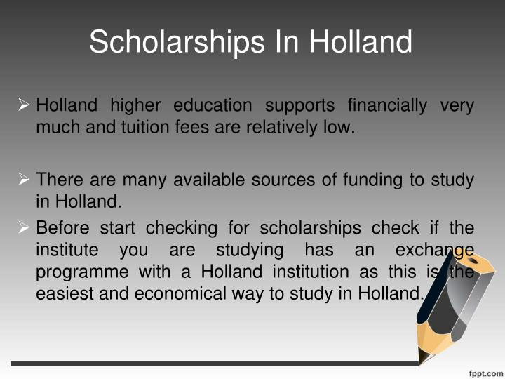 Scholarships In Holland