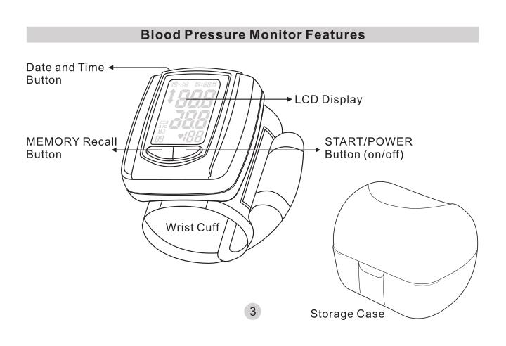 Blood Pressure Monitor Features