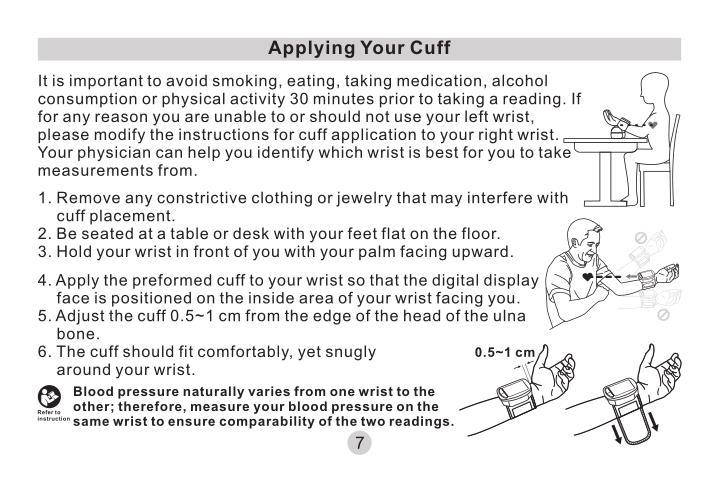 Applying Your Cuff