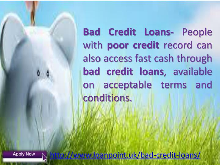 Bad Credit Loans-