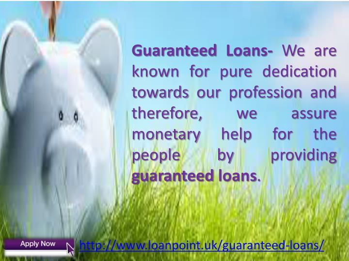 Guaranteed Loans-