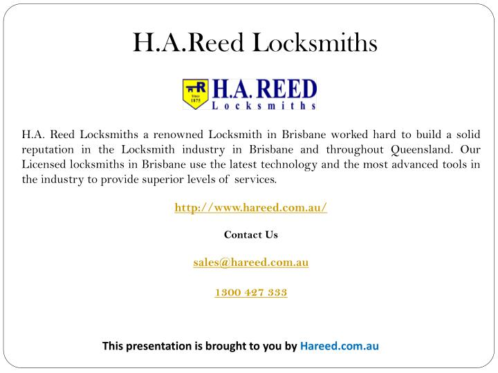 H.A.Reed Locksmiths