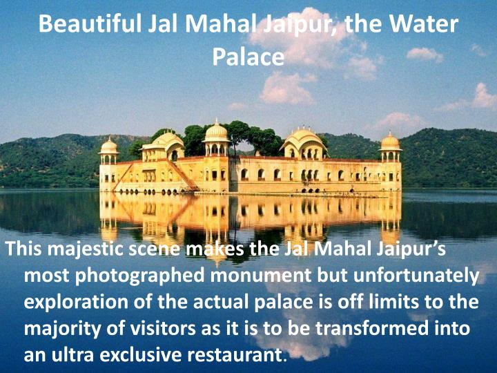 Beautiful Jal Mahal Jaipur, the Water Palace