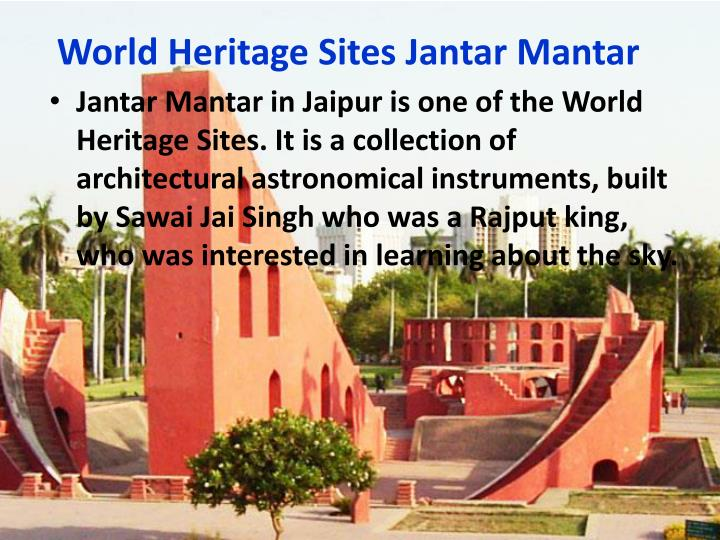 World Heritage Sites Jantar Mantar