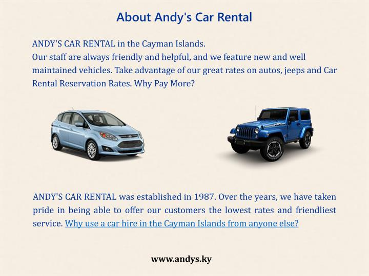 About Andy's Car Rental