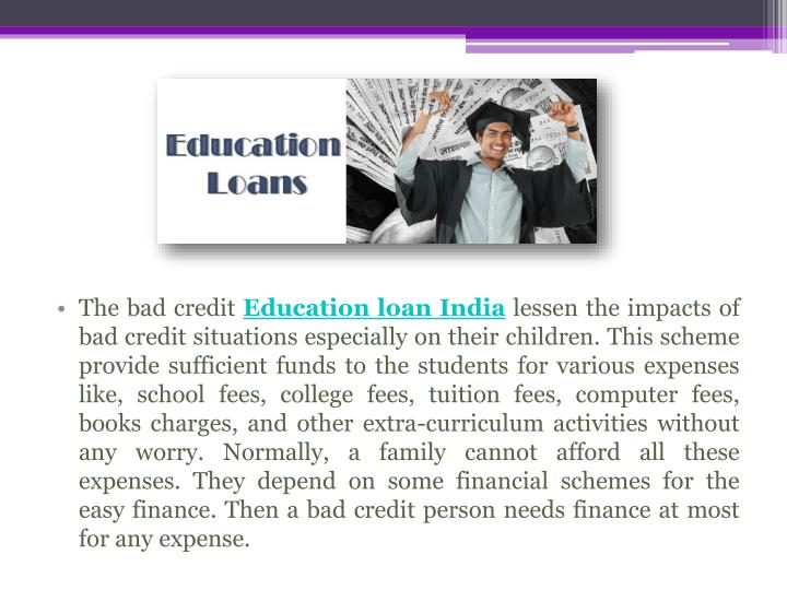 The bad credit