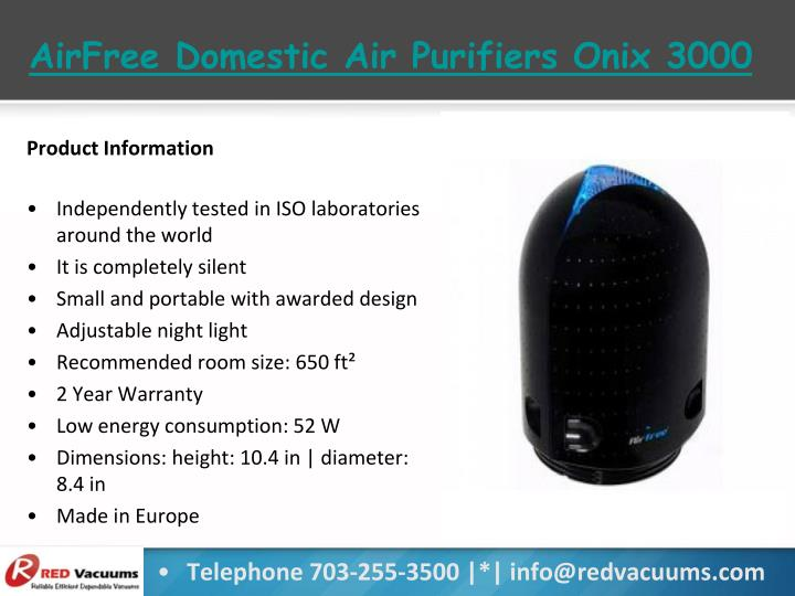 AirFree Domestic Air Purifiers Onix 3000