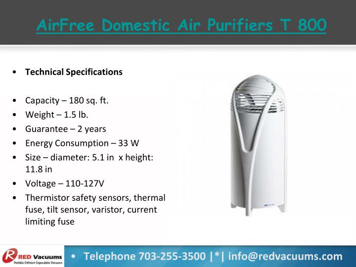 AirFree Domestic Air Purifiers T 800
