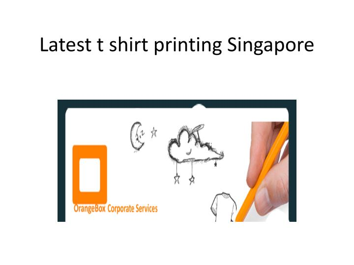 Latest t shirt printing singapore