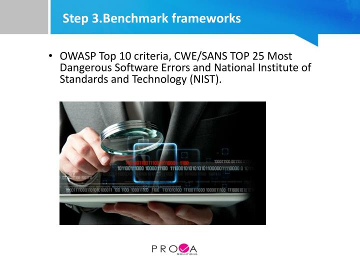 Step 3.Benchmark frameworks
