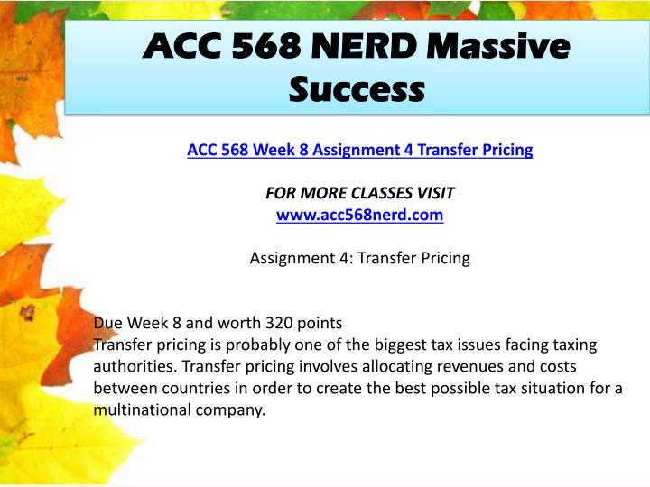 ACC 568 NERD Massive Success