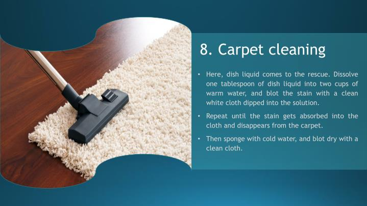 8. Carpet cleaning