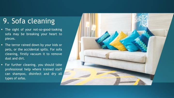 9. Sofa cleaning