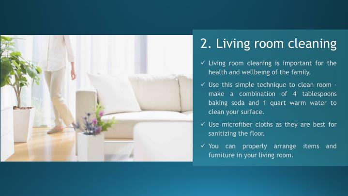 2. Living room cleaning