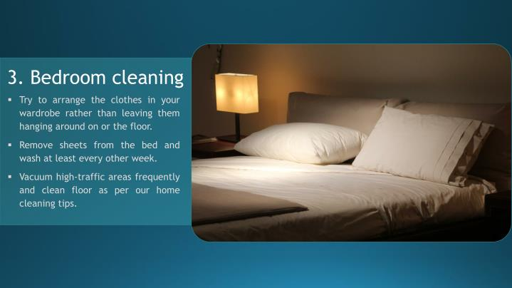 3. Bedroom cleaning