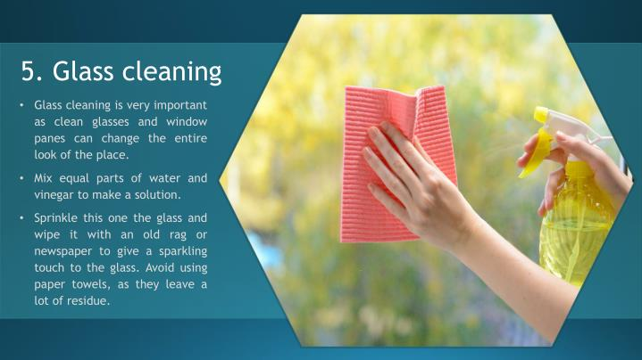 5. Glass cleaning