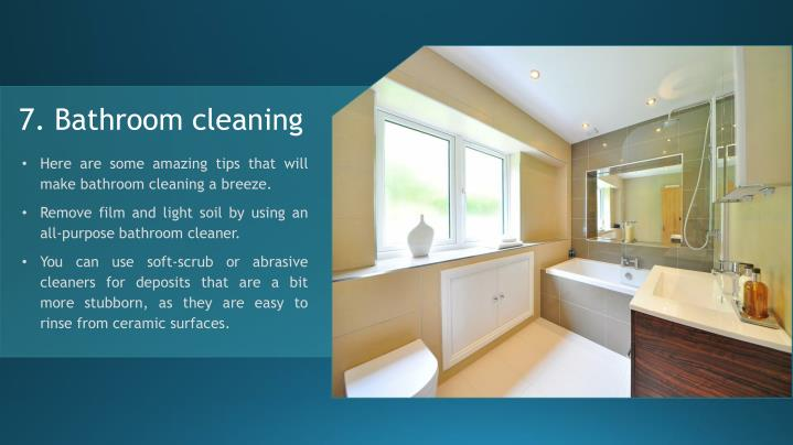 7. Bathroom cleaning