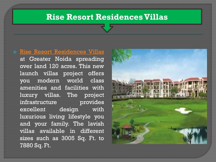 Rise Resort Residences Villas
