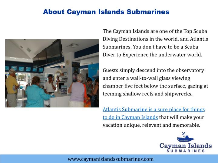 About Cayman Islands Submarines