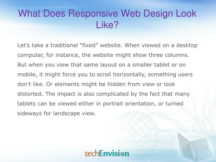What does responsive web design look like