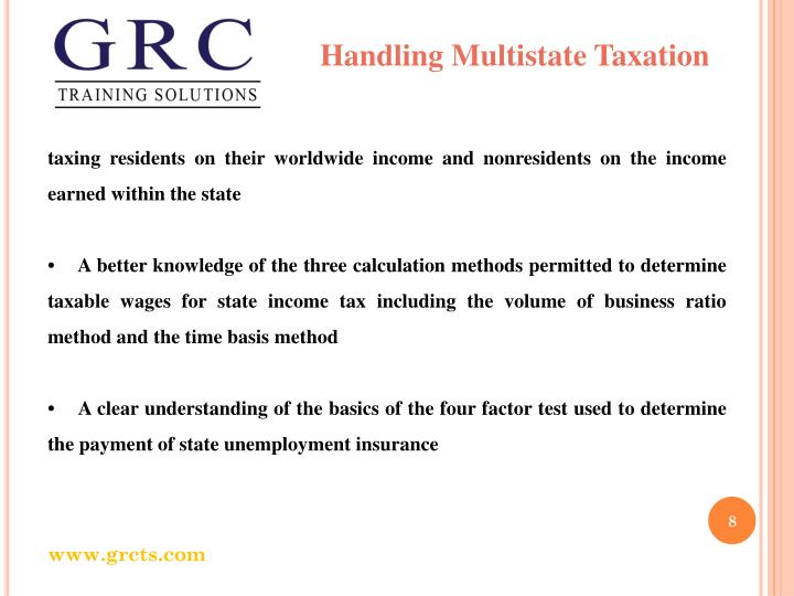 Handling Multistate Taxation
