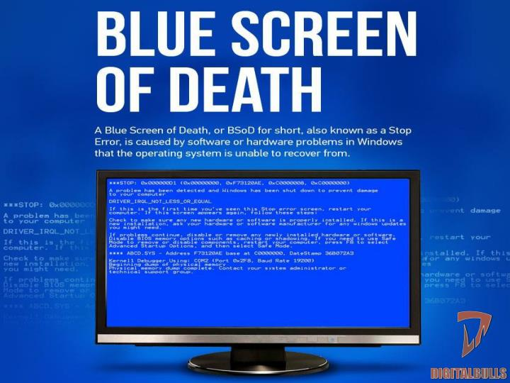 How to see or fix blue screen error digitalbulls