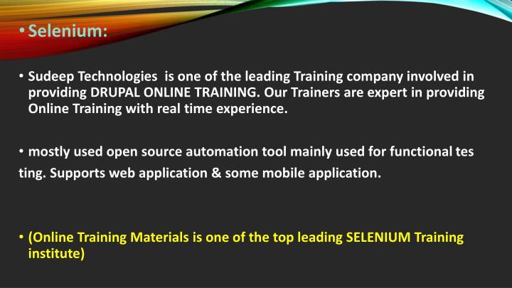 Selenium:
