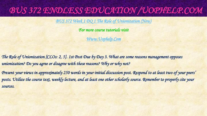 Bus 372 endless education uophelp com2