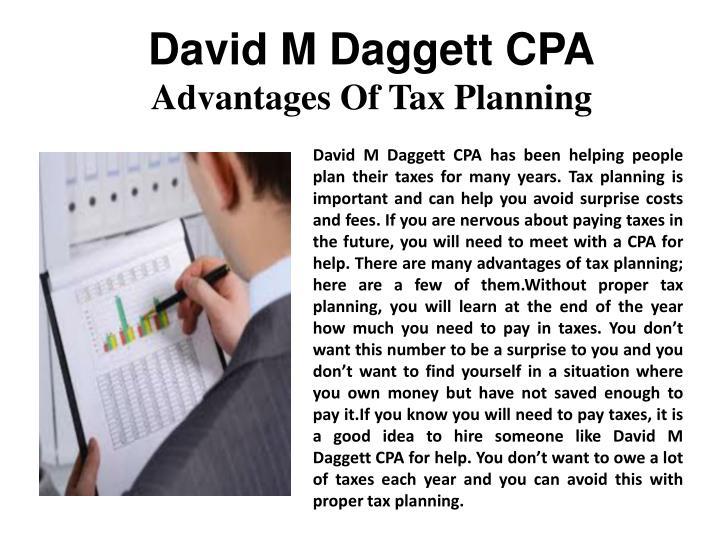 David M Daggett CPA
