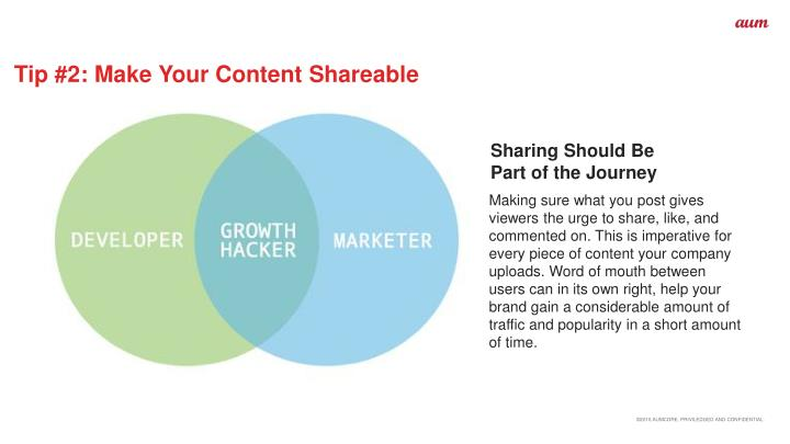 Tip #2: Make Your Content Shareable