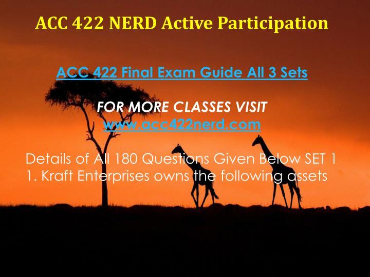 ACC 422 NERD Active Participation