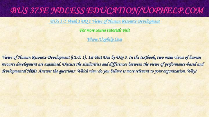 Bus 375e ndless education uophelp com2