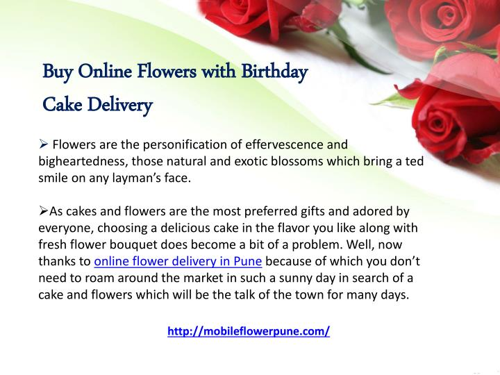 Buy Online Flowers with Birthday CakeDelivery