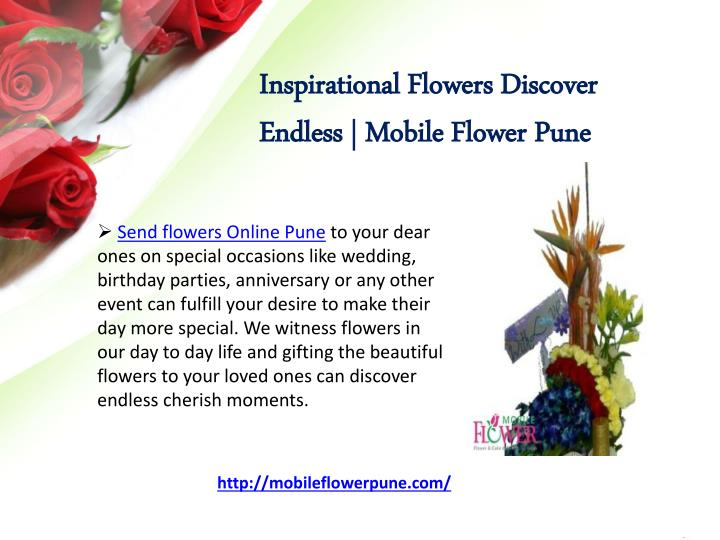 Inspirational Flowers Discover Endless | Mobile Flower Pune