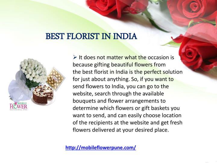 BEST FLORIST IN INDIA