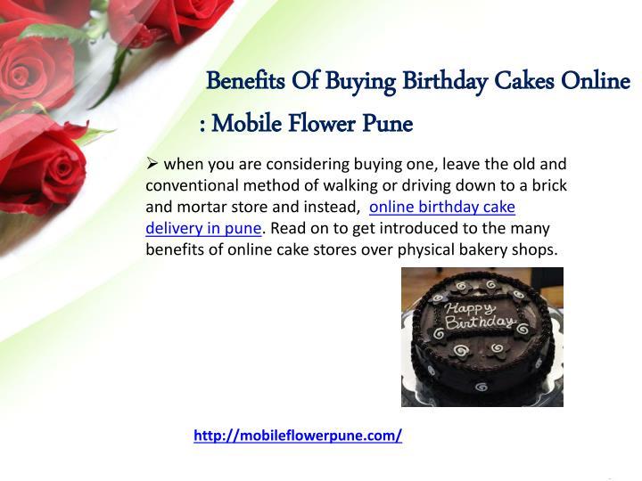 Benefits Of Buying Birthday Cakes Online : Mobile FlowerPune