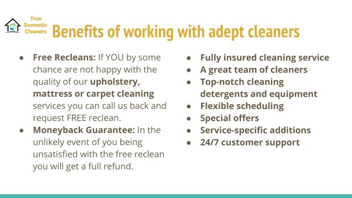 Benefits of working with adept cleaners