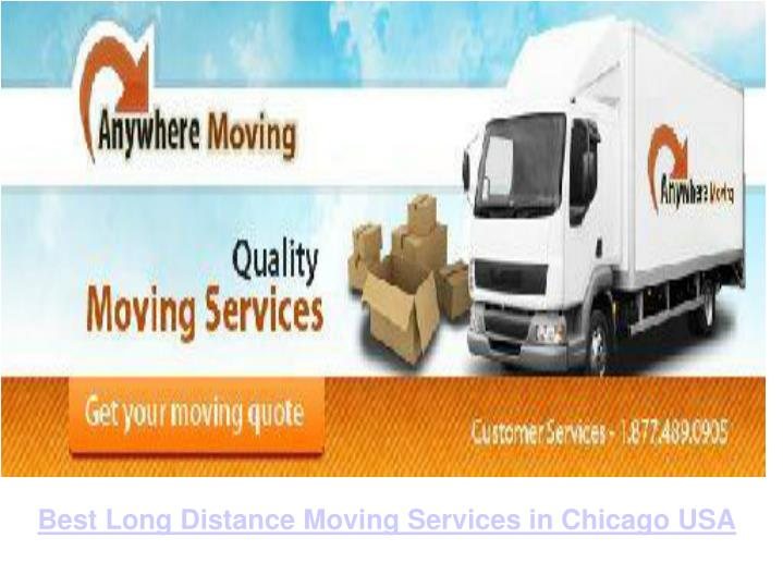 Best Long Distance Moving Services in Chicago USA
