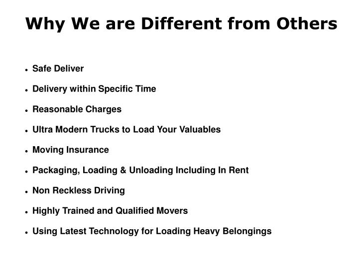 Why We are Different from Others