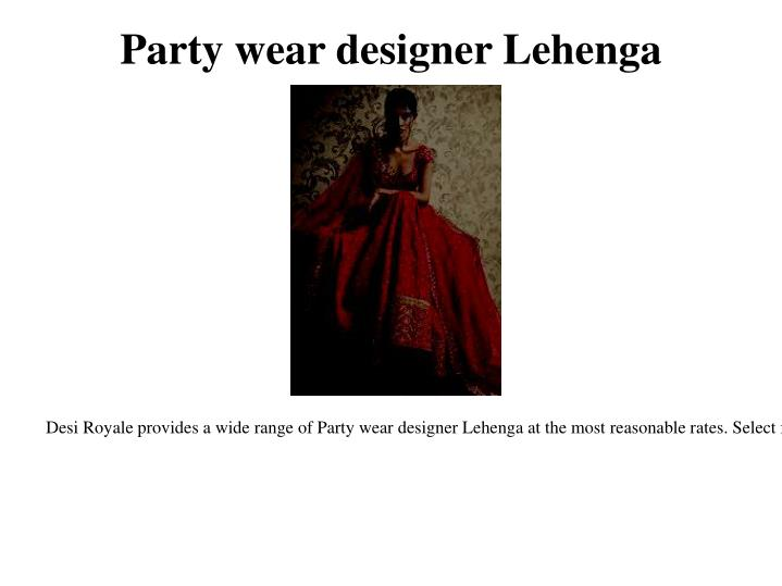 Party wear designer lehenga