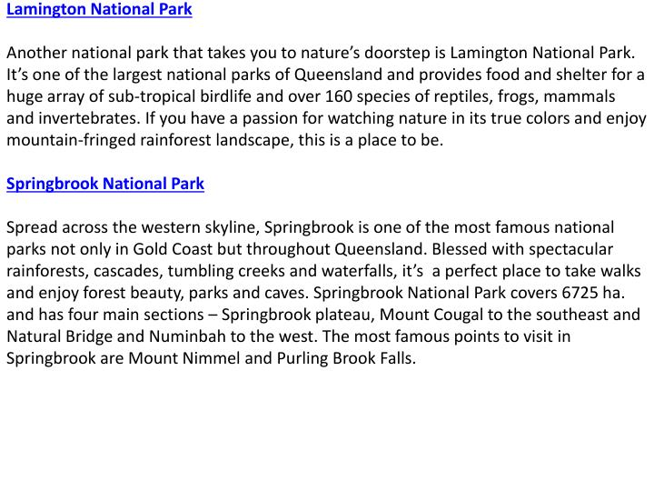 Lamington National