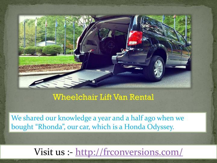 Wheelchair Lift Van Rental
