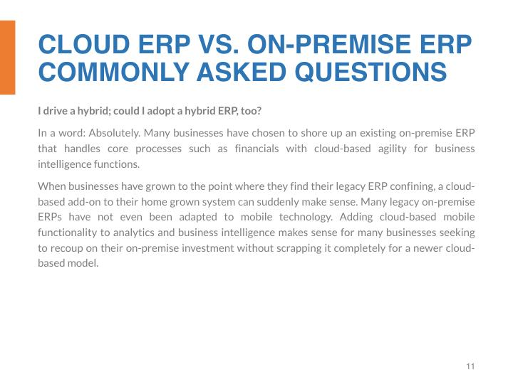 CLOUD ERP VS. ON-PREMISE ERP