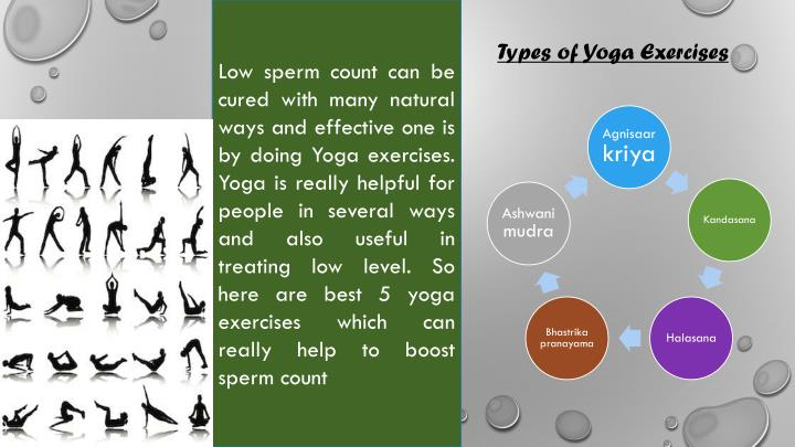 Low sperm count can be cured with many natural ways and effective one is by doing Yoga exercises. Yo...
