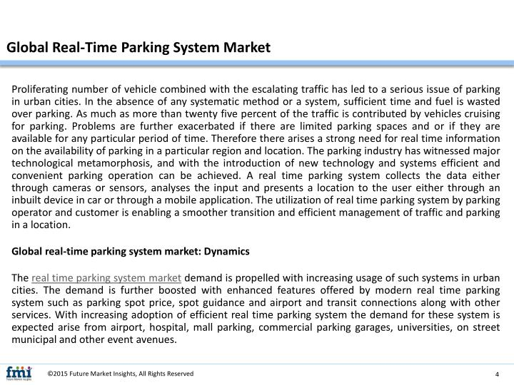 Global Real-Time Parking System Market