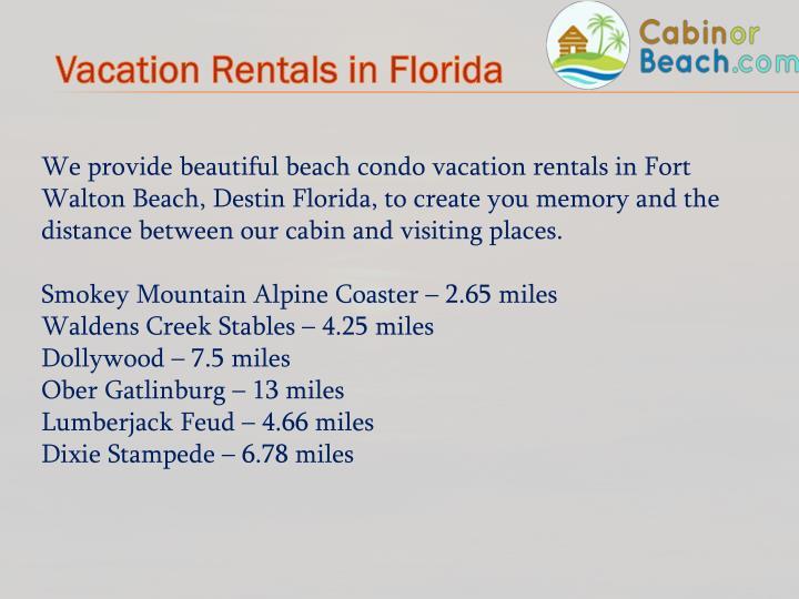 Vacation Rentals in Florida