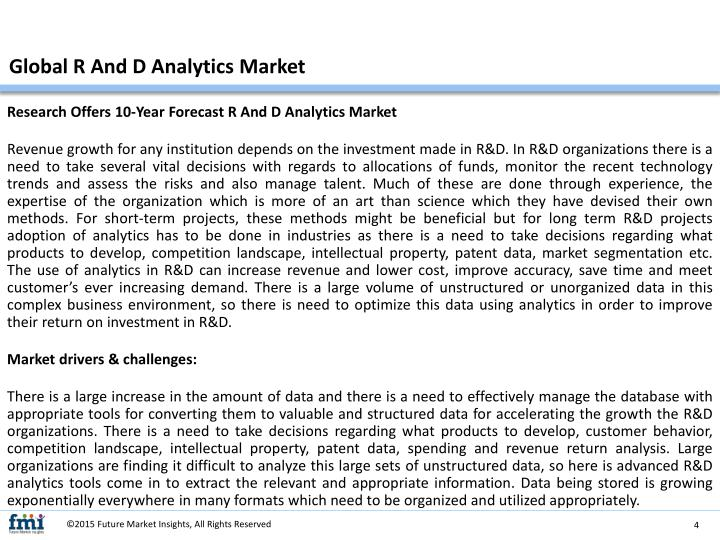 Global R And D Analytics Market