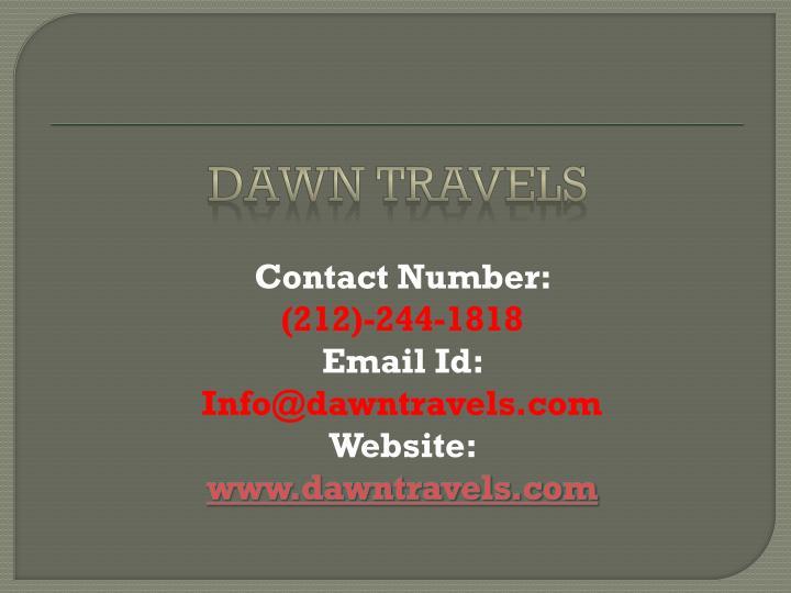 Dawn travels