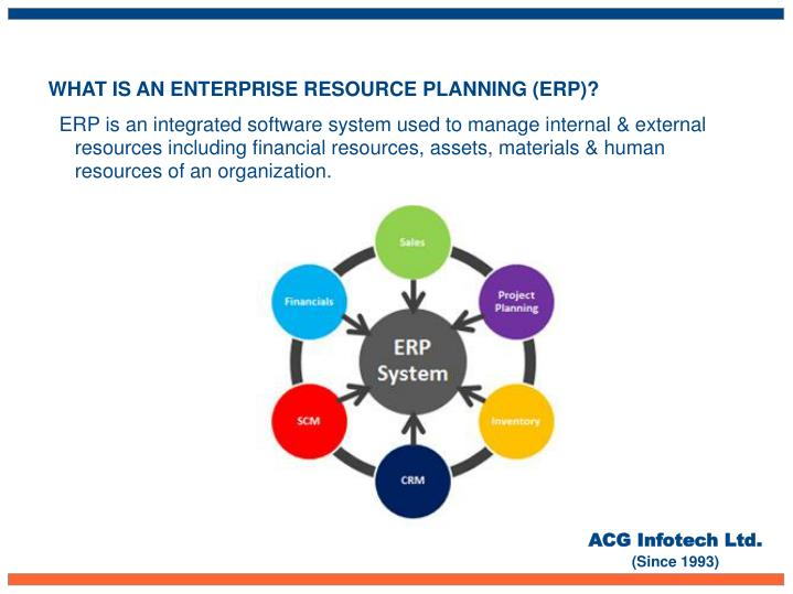 WHAT IS AN ENTERPRISE RESOURCE PLANNING (ERP)?