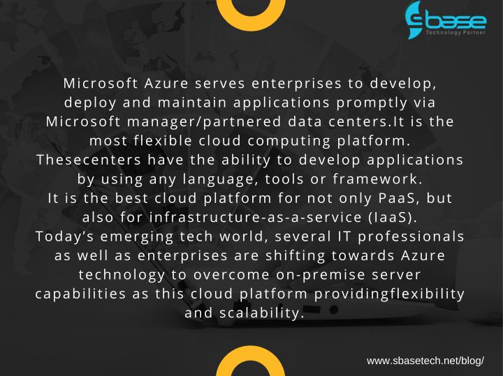 Microsoft Azure serves enterprises to develop,